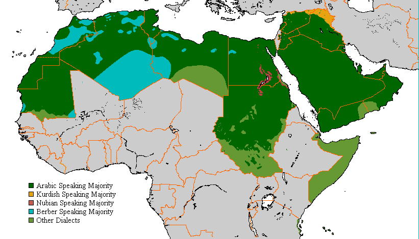 africa map arabic language