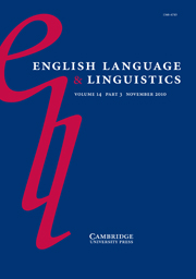 English Language and Linguistics