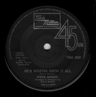 Hes Misstra Know-It-All 1974 single by Stevie Wonder