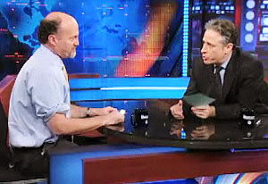 Image result for jon stewart jim cramer interview