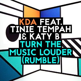 KDA featuring Tinie Tempah and Katy B - Turn the Music Louder (Rumble) (studio acapella)