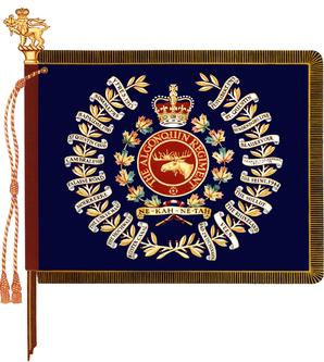 The regimental colour of The Algonquin Regiment.