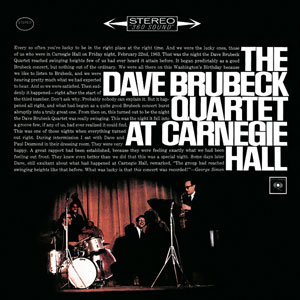 <i>At Carnegie Hall</i> (Dave Brubeck Quartet album) 1963 live album by The Dave Brubeck Quartet