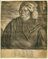 Jersey Negro (1748), John Greenwood. This portrait of Ann Arnold was the first individual portrait of a black woman in North America. Ann Arnold was the wet nurse of a child whose parents were born in the English isle of Jersey.  Museum of Fine Arts, Boston.
