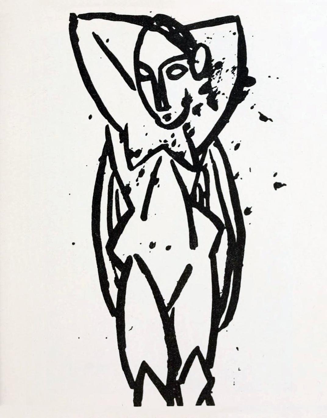 Pablo Picasso, 1907, Nu aux bras levés (Nude)
