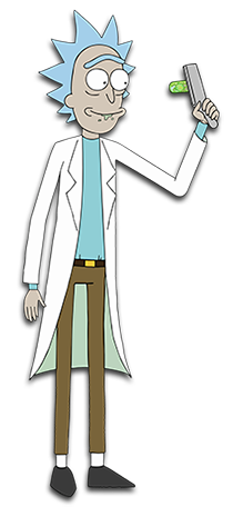 A Mad Scientist Looking Old Man With Spiky Gray Hair And Wearing A Lab Coat