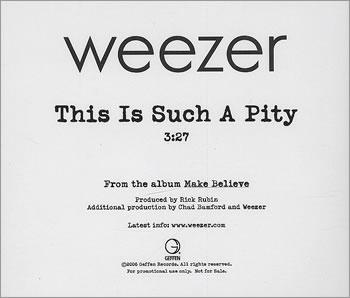 Imagem da capa da música This Is Such a Pity de Weezer