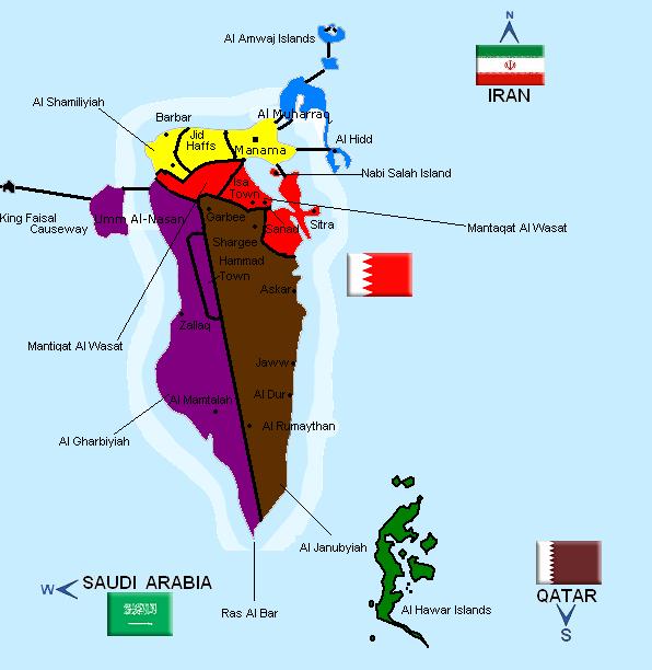 FileBahrain Mappng Wikipedia - Bahrain map