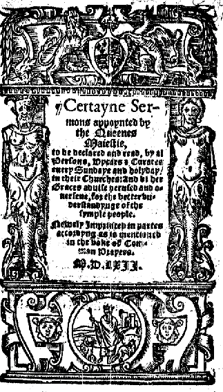 Title page of Cranmer's book of Homilies Bookof homiliesI.jpg