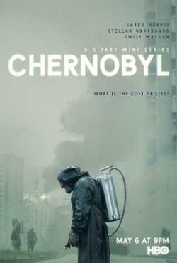 Poster showing Chernobyl the five part miniseries for HBO