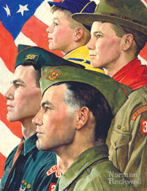 <i>Growth of a Leader</i> 1964 painting by Norman Rockwell