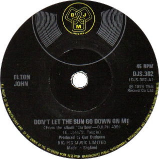 Dont Let the Sun Go Down on Me 1974 single by Elton John