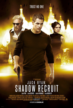 Movie release poster for Jack Ryan: Shadow Recruit, courtesy Skydance Pictures, Paramount Pictures