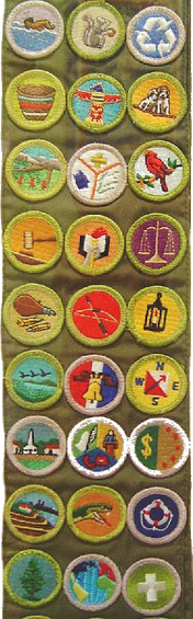 photo about Printable List of Merit Badges titled Advantage badge (Boy Scouts of The us) - Wikipedia