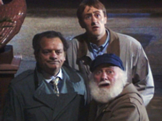 The second Only Fools and Horses line-up of (left to right) Del Boy (David Jason), Rodney (Nicholas Lyndhurst) and Uncle Albert (Buster Merryfield) lasted from 1985 to 1996.