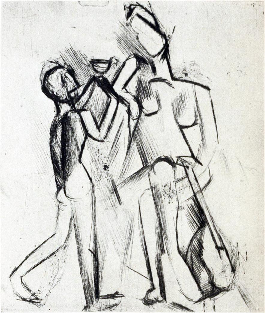 file pablo picasso 1909 two figures deux figures nues