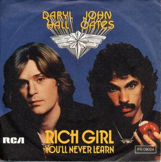 Cover image of song Rich Girl by Hall & Oates