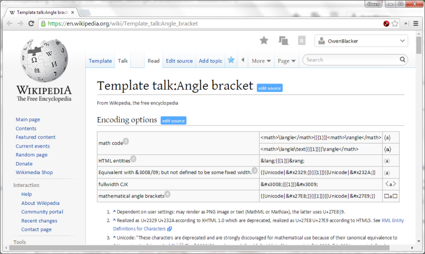 File:Angle brackets demonstration Chrome 39 on Windows 7 png
