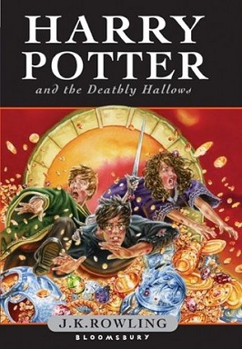 Harry Potter and the Deathly Hallows cover by J K Rowling