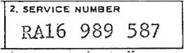 A military service number of the Regular Army
