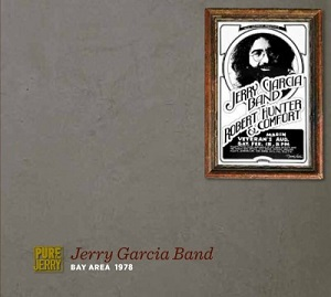 A concert poster for the Jerry Garcia Band and Robert Hunter & Comfort at Marin Veterans Auditorium