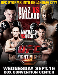 A poster or logo for UFC Fight Night: Diaz vs. Guillard.
