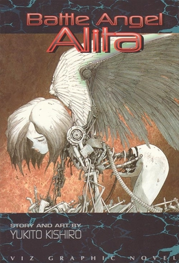 Scanned cover of volume 1 of the Battle Angel Alita graphic novel, original version. Published by Viz Media.