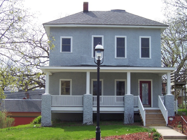 Grey Painted Houses Pictures