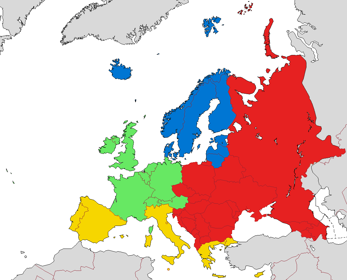 european subregions according to eurovoc the thesaurus of the european union southern europe is marked yellow on this map