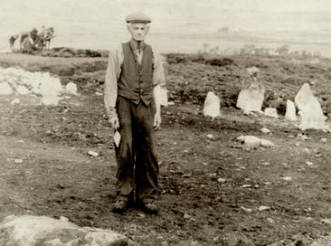 George Barnett at Beaghmore in the 1940s