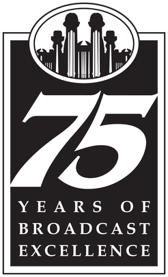 Logo from 2004 for the Mormon Tabernacle Choir's celebrations of 75 years of Music and the Spoken Word