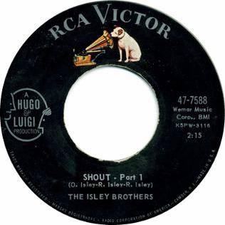 Shout (The Isley Brothers song) 1959 single by The Isley Brothers