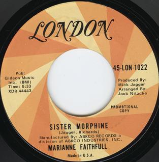 Sister Morphine song by Marianne Faithfull