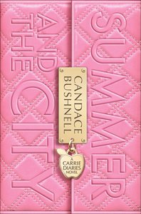 Book title on solid pink cover, with a gold lock in center with author's name