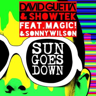 Sun Goes Down (David Guetta and Showtek song) 2015 single by David Guetta and Showtek featuring Magic! and Sonny Wilson