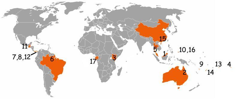 Survivor Locations Map