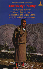 Thubten Jigme Norbu on the cover of his book Tibet is My Country: Autobiography of Thubten Jigme Norbu, Brother of the Dalai Lama as told to Heinrich Harrer (translation from German by Edward Fitzgerald) originally published in 1961 Thubten Jigme Norbu.jpg