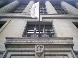 Fasces over door to Chicago City Hall.