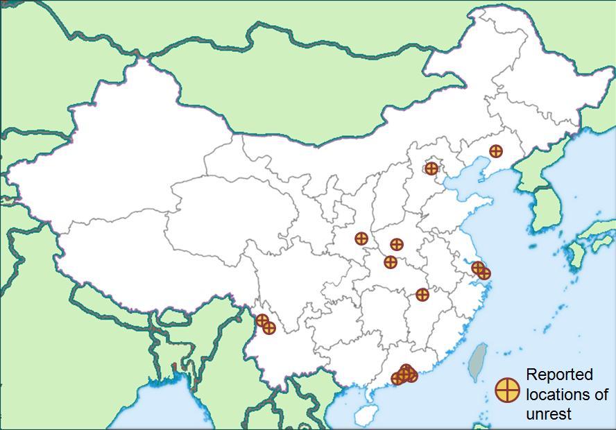 chinese labour unrest wikipedia