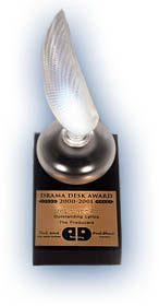 Drama Desk Award New York theater awards