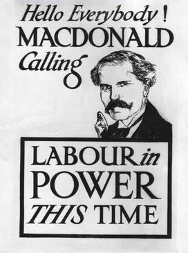 Election poster produced for the 1923 election MacDonald Poster.jpg