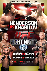 A poster or logo for UFC Fight Night: Henderson vs. Khabilov.