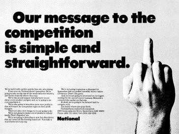 Our message to the competition is simple and straightforward