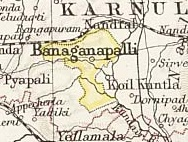 Location of Banganapalle