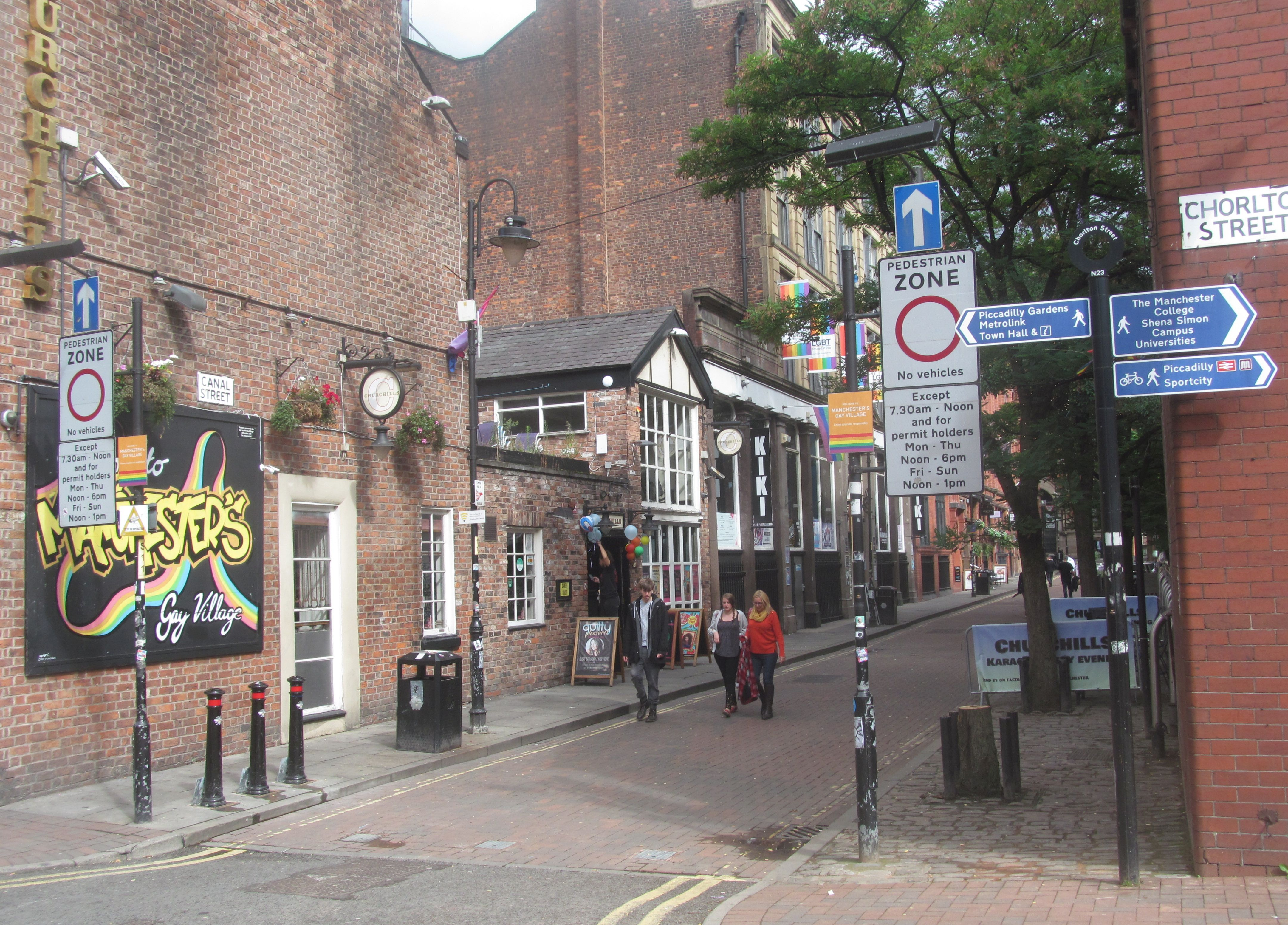 manchester Anal canal street street village gay