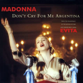Madonna — Don't Cry for Me Argentina (studio acapella)