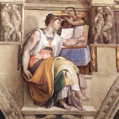Michelangelo's rendering of the Erythraean Sibyl