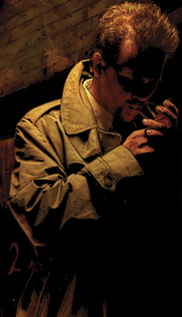 Detail from the cover to Hellblazer #214 (2005...
