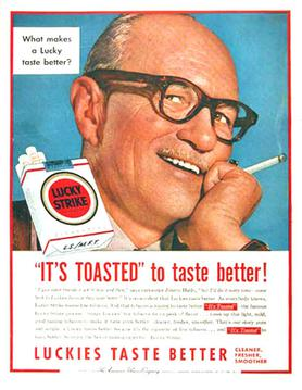 Jimmy Hatlo endorsement print ad (1954)