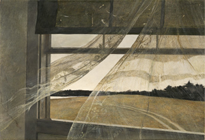 <i>Wind from the Sea</i> painting by Andrew Wyeth